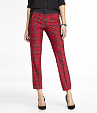 TARTAN PLAID STUDIO STRETCH COLUMNIST ANKLE PANT | Express