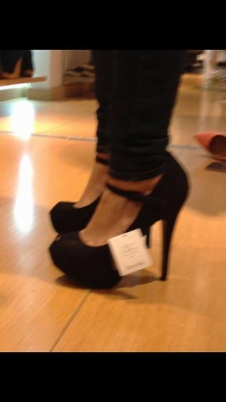 peep toe high heels ankle strap bershka
