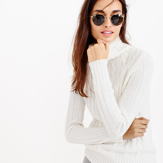 sweater turtleneck beige sweater