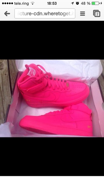 shoes pink nike air force