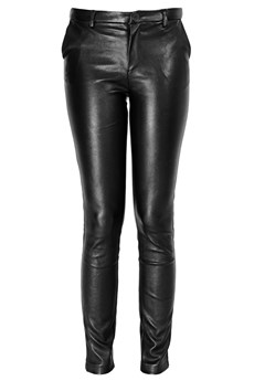 LUCY PARIS IOLANTHE Black Leather Pants - CLOTHING | TROUSERS | PRET-A-BEAUTE.COM