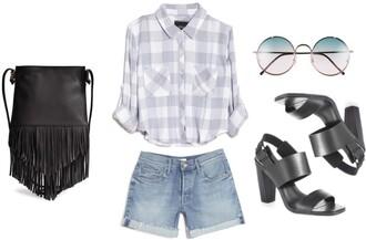 lana jayne blogger shoes bag top shorts