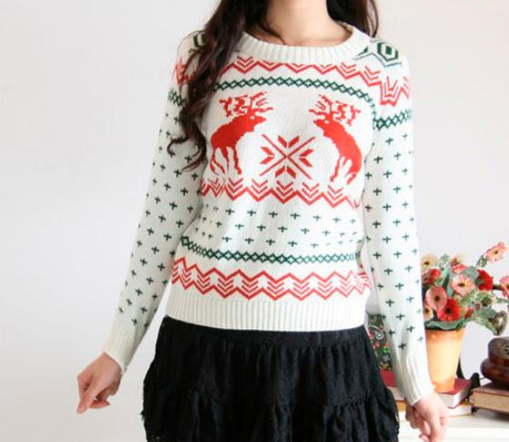 Fashion cute cartoon sweater