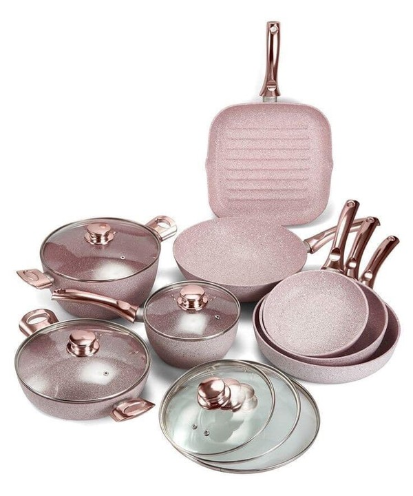 home accessory pink pots kitchen
