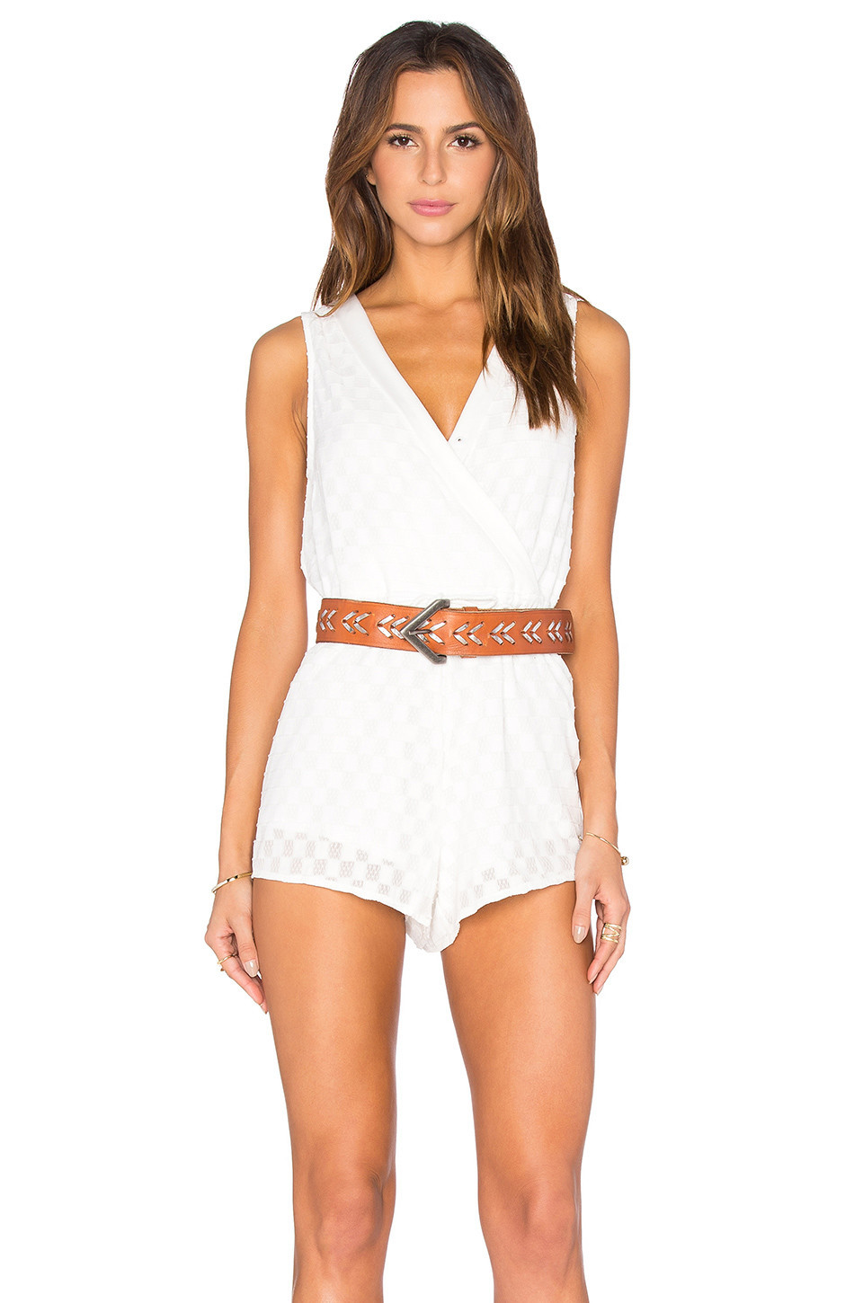 706657ac56 Toby Heart Ginger Charlie Flare Sleeve Playsuit in white - Wheretoget
