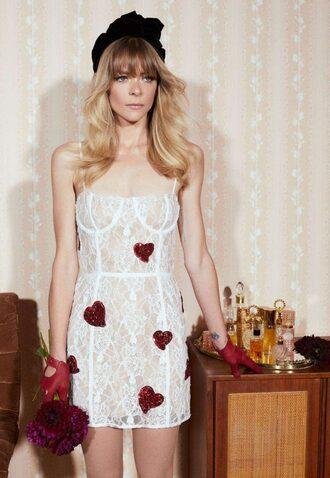 dress white white dress lace dress lace jaime king editorial heart