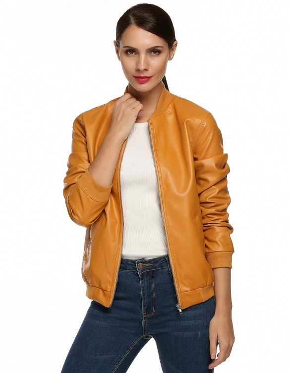 Faux Leather Bomber Jacket – Outfit Made