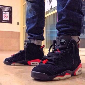 shoes air jordan jordan red black jordans nike nike sneakers sneakers hypebeast
