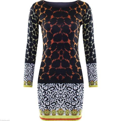 Womens Ladies Celebrity Nicky Minaj Mini Bodycon Leopard Tiger Print Dress Top