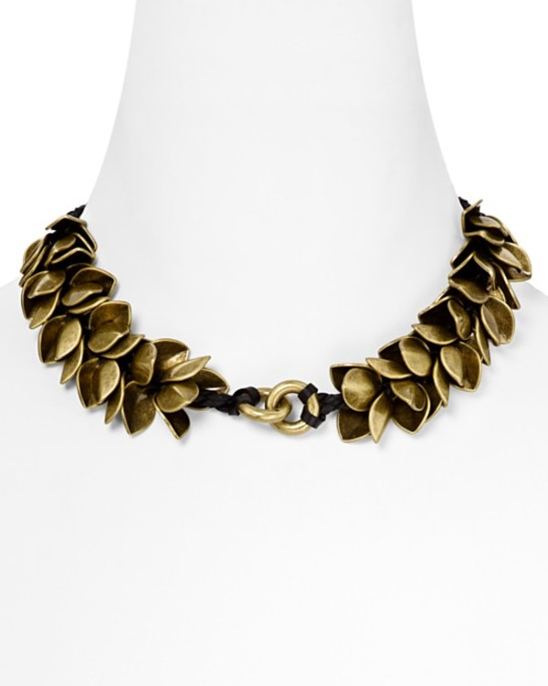 jewels giles & brother wheat petal choker wheat necklace