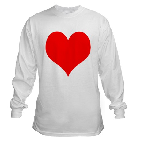 Red Heart Long Sleeve T-Shirt by RedHeart4