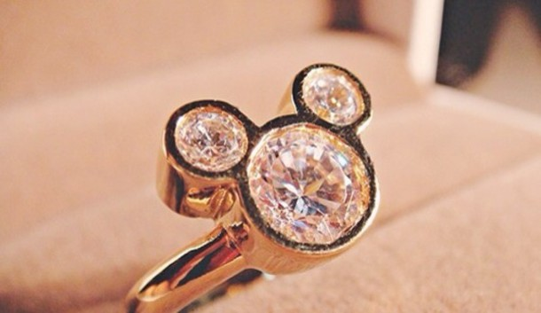 jewels mickey mouse ring diamonds - Mickey Mouse Wedding Ring