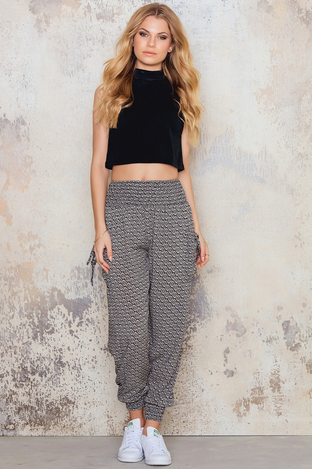 Stella Shirring Waist Print Trousers