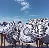 swimwear,blanket,towel,lifestyle,black and white,hipster,summer holidays,tapestry