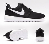 shoes,i am looking for black roshes with a  white  tick. i need them in a size 4 or 5 i live in leeds so i