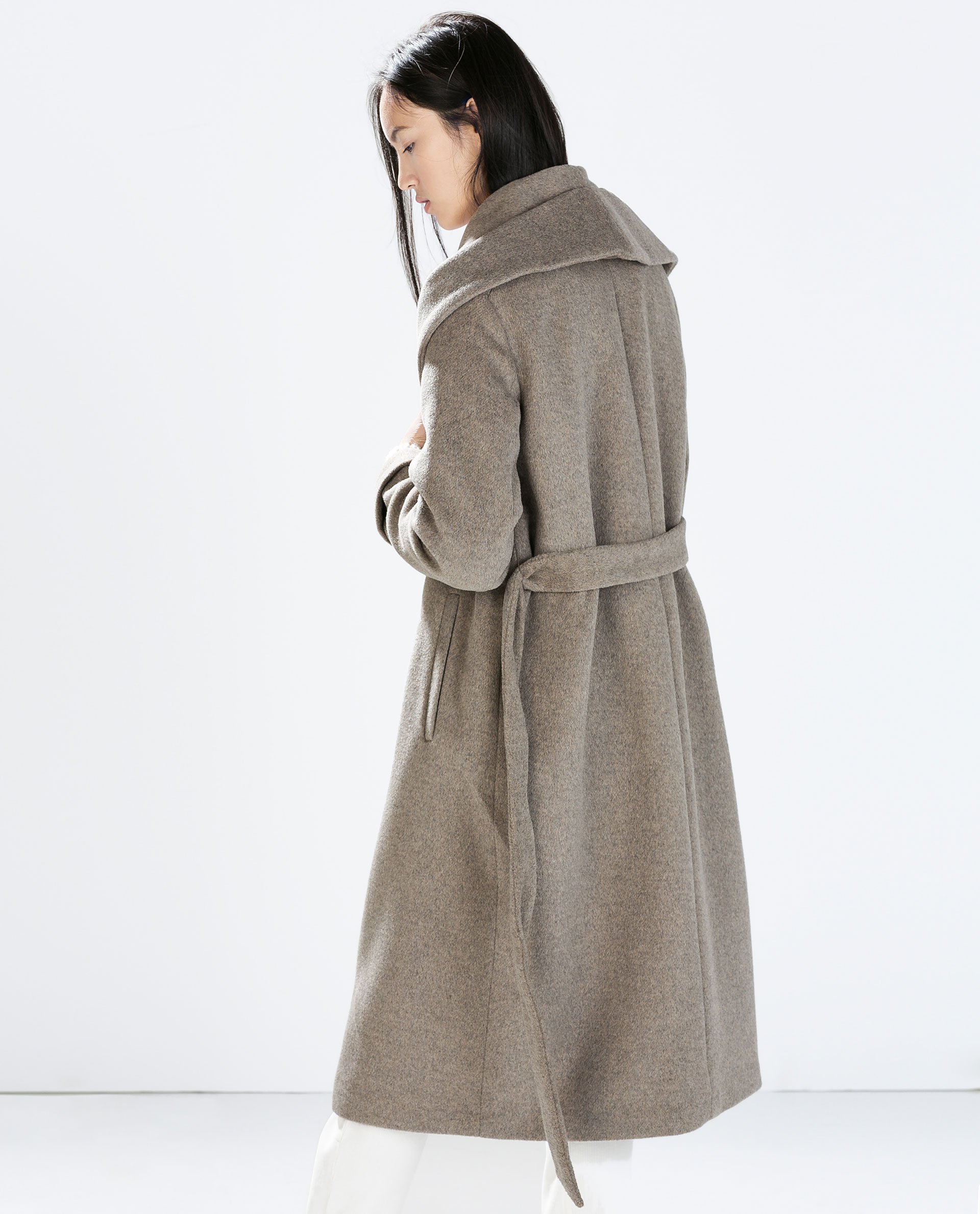 COAT WITH BELT - Outerwear - WOMAN | ZARA United States