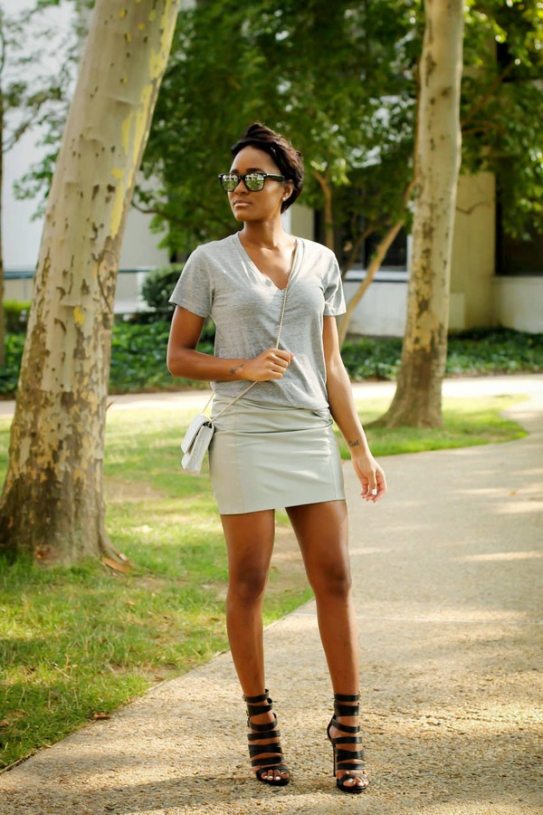 the daileigh t-shirt skirt bag shoes sunglasses