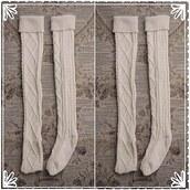 socks,divergence clothing,knee high socks,knitted socks,cozy socks,grunge,boot socks,white socks,cool socks,over the knee socks