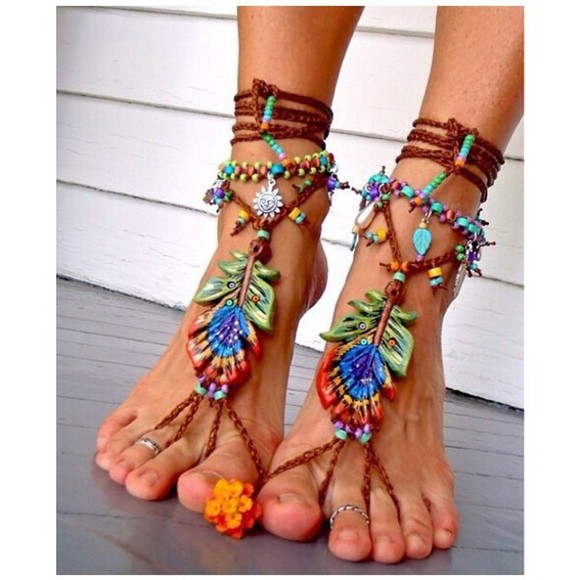 wood shoes boho tropic tropical colorful