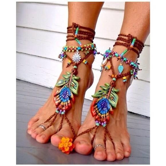 shoes wood boho tropic tropical colorful