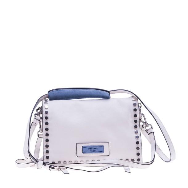 Prada studded bag shoulder bag white