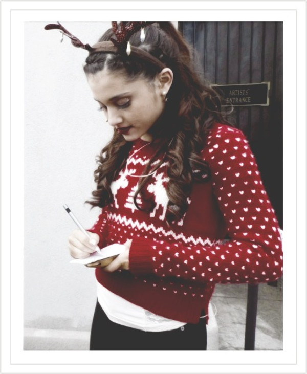 sweater ariana grande winter sweater