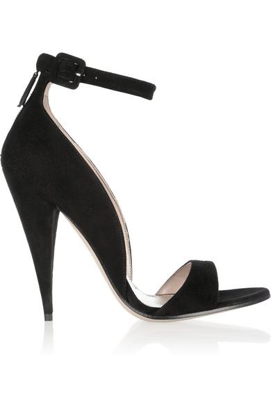 Miu Miu|Suede sandals|NET-A-PORTER.COM