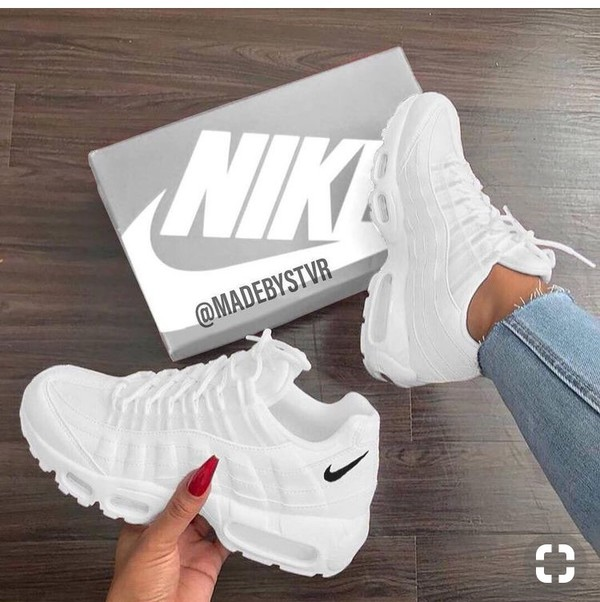 shoes nike nike shoes white white nike tick 95s