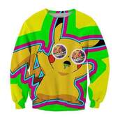 sweater,pikachu,sweatshirt,stone,pokemon