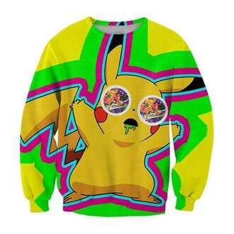 sweater pikachu sweatshirt stone pokemon