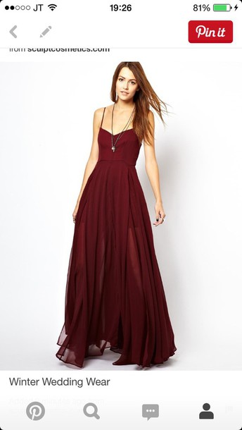 dress red red dress prom dress maxi dress burgundy dress long dress long prom dress prom gown