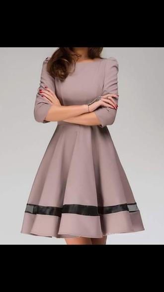 dress beige long sleeve dress style elegant dress