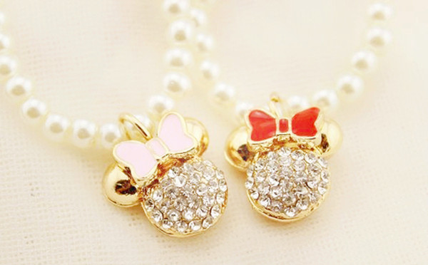 jewels disney necklace minnie mouse