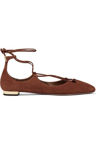 ballet flats ballet flats suede light brown shoes