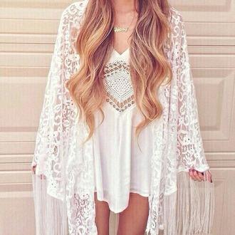 cardigan boho white lace cardigan dress