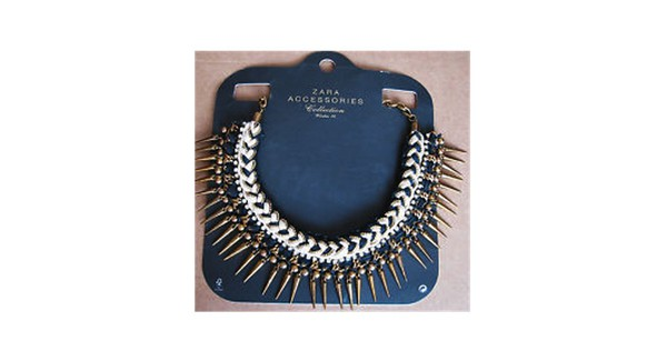 jewels necklace spikes zara