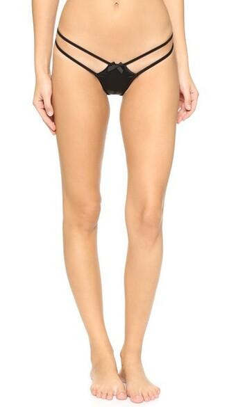 thong fleur black underwear