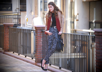 my fashions days mireia printed pants pants