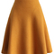 Tender a-line skirt in mustard - retro, indie and unique fashion