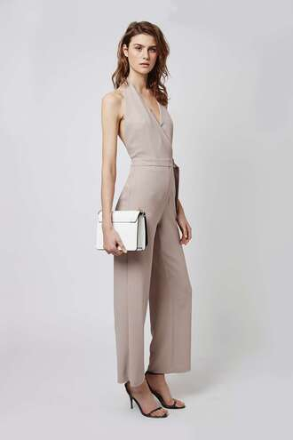 jumpsuit halter neck v neck wedding clothes