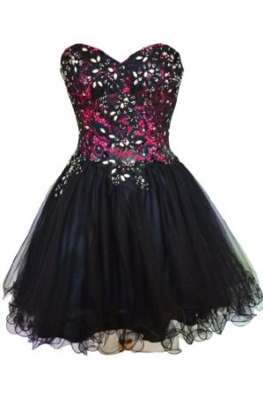 Amazon.com: Sunvary Black Lace Sweetheart Short Cocktail Homecoming Dresses Evening Gowns: Clothing