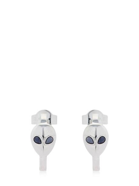 ALINA ABEGG Alien Mini Hoop Earrings in black / silver