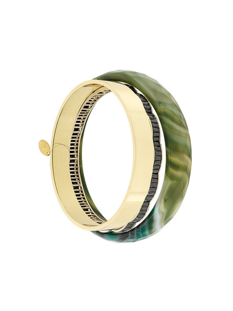 women bracelets gold green jewels