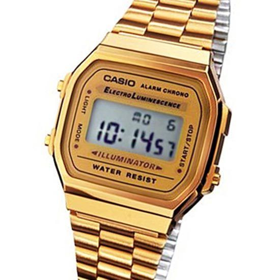 Casio Vintage Retro Gold Digital Watch A168WG A168 New 4971850742333 | eBay