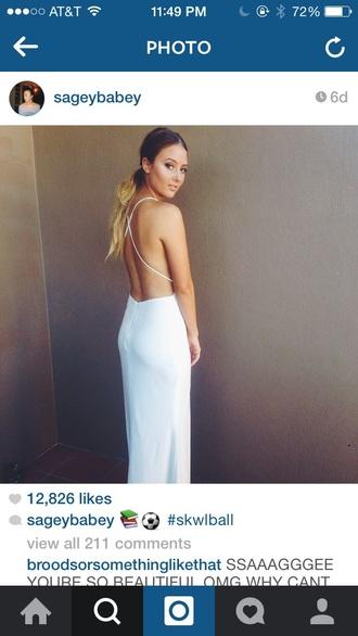 dress backless white sage sivan white dress backless prom dress backless dress maxi dress