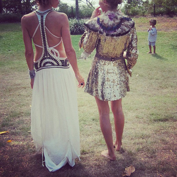 dress silver sequins long dress hippie coachella festival lace sequins gold silver gold sequins white maxi dress skirt