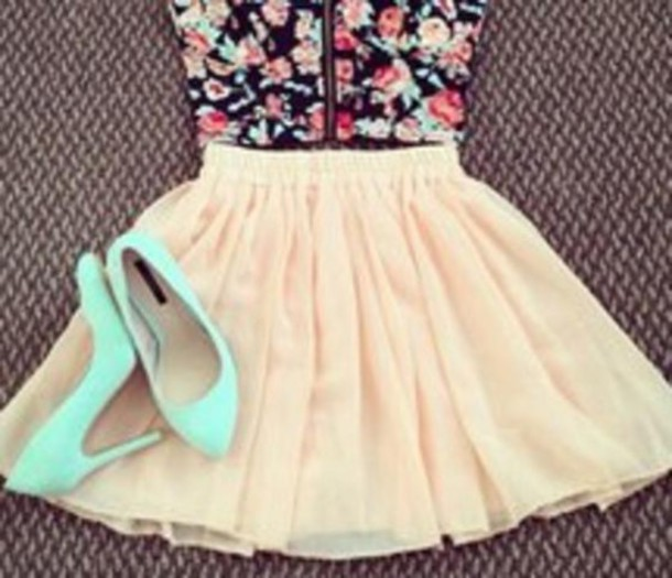 top skirt outfit cute summer outfits