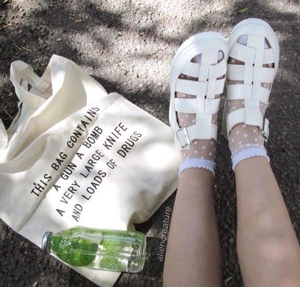 socks pretty little liars polka dots lace dress lace up bag