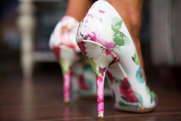 shoes high heels hot floral must have popular