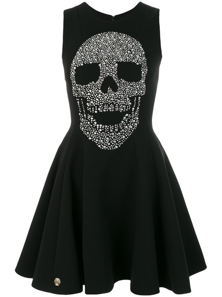 dress print dress skull women print black